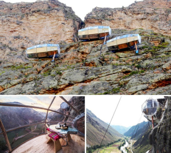 Skylodge Adventure Suites. Горные капсулы в Перу
