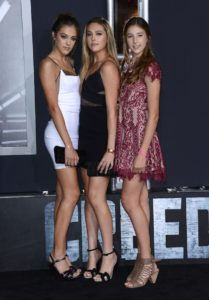SYLVESTER STALLONE's daughters @ the premiere of 'Creed' held @ the Regency Village theatre. November 19, 2015