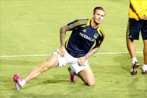 David Beckham wears pink Adidas football boots as LA Galaxy beat The San Jose Earthquakes 3-1 in San Jose, California. The Galaxy came into the game 1-0 down from the first leg but finished 3-2 on aggregate to reach the Western Final. Pictured: David Beckham Ref: SPL455169 071112 Picture by: Deano / Splash News Splash News and Pictures Los Angeles: 310-821-2666 New York: 212-619-2666 London: 870-934-2666 photodesk@splashnews.com