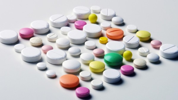 A lot of different medicaments arranged to square as mackground; Shutterstock ID 110247509; PO: aol; Job: production; Client: drone